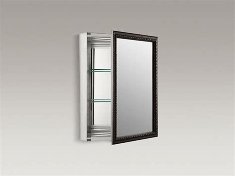 kohler aluminum frame medicine cabinets aluminum medicine cabinet with bronze framed mirror door