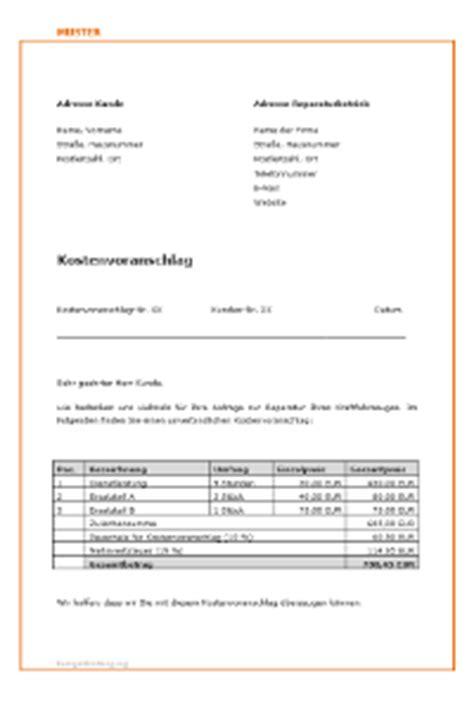 Musterbrief Versicherung Schaden Kostenvoranschlag F 252 R Autoreparatur Unfall Verkehrsrecht 2018