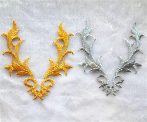 gold applique gold embroidery applique makaroka