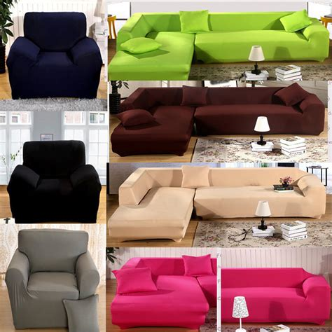 Sofa Covers Sectional L Shape Stretch Elastic Fabric Sofa Cover Pet Sectional Corner Covers Ebay