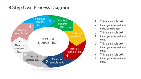 8 Steps For by 8 Steps Oval Process Diagram For Powerpoint Slidemodel