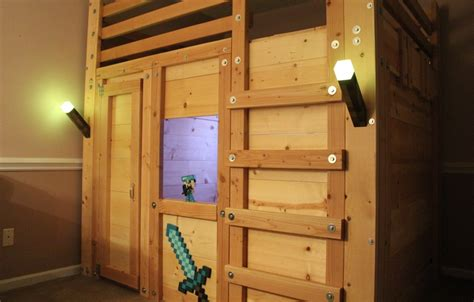 minecraft bunk beds easy to build minecraft themed bed fort bed forts