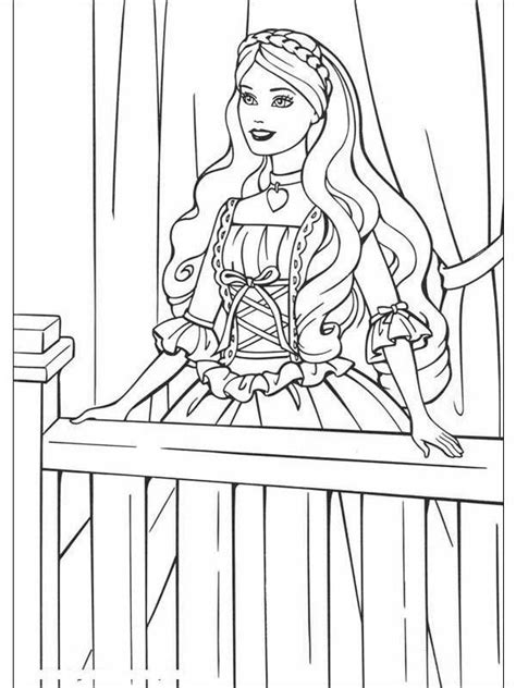 disney coloring pages barbie barbie princesses sitting with a cat coloring pages
