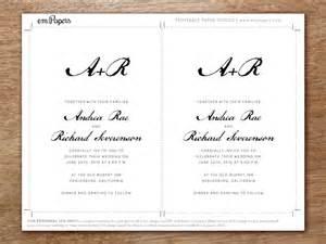 hochzeitseinladungen vorlagen hochzeitseinladung vorlage calligraphy monogram