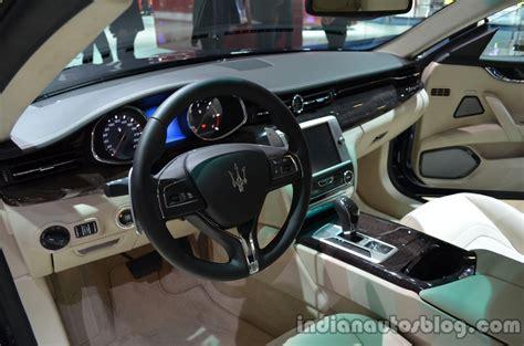 maserati car interior maserati quattroporte diesel world premiere frankfurt live