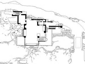 falling water house plans and elevations arts falling water house plans and section