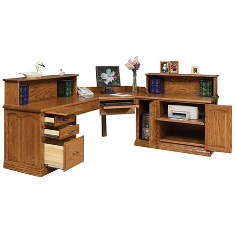 L Shaped Executive Desk Amish Crafted Furniture Furniture L Shaped Desk