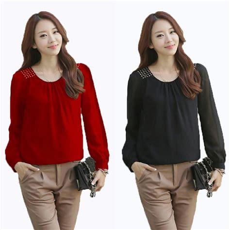Kemeja Wanita Baju Atasan Wanita Blouse Kaos Wanita Wolfis model baju atasan wanita terbaru modern