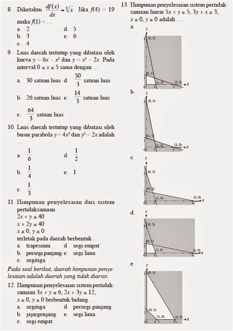 matematika kita contoh soal matematika xii ips  uas