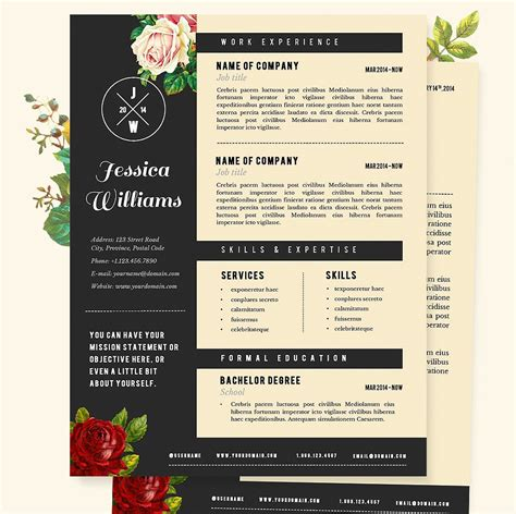 free creative resume templates word resume template download free