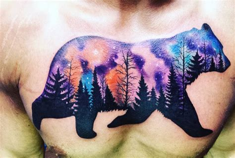 northern lights bear tattoo venice tattoo art designs