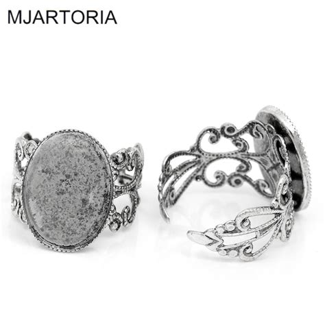 Supplier Maxi By Rins 1 aliexpress buy mjartoria 10pcs oval diy adjustable rings base for jewelry ring blanks