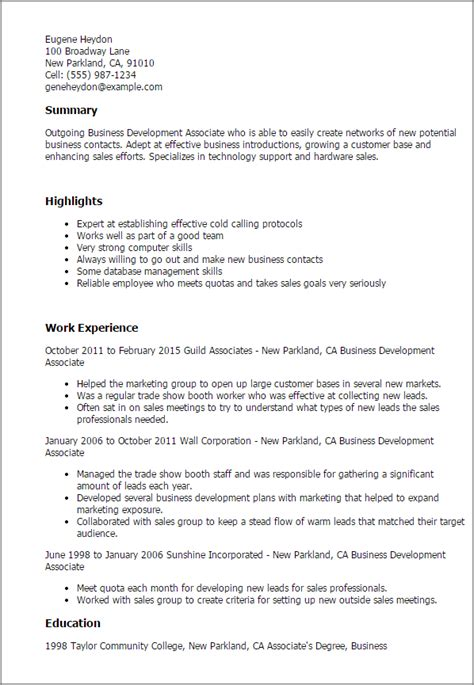 How To Write A Resume Trade by Business Development Associate Resume Template Best
