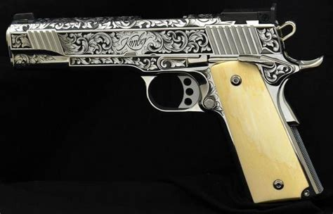 Most Expensive Kitchen Knives custom kimber 1911 with some white pearl grips and this