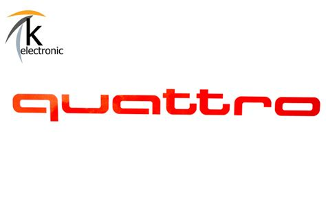 Schriftzug Aufkleber Audi k electronic 174 gmbh audi quattro schriftzug rot