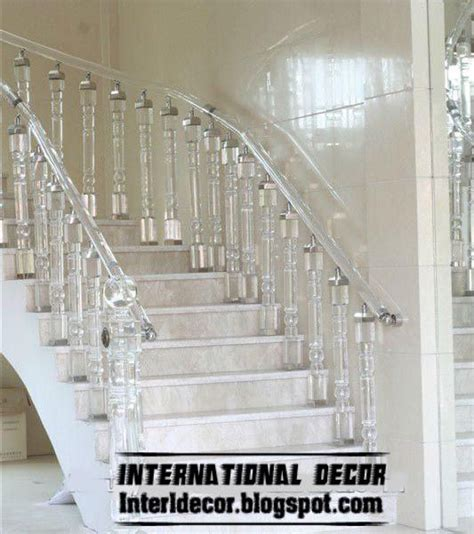 house interior column designs stairs pinned by www modlar crystal stair railings handrails and crystal stair