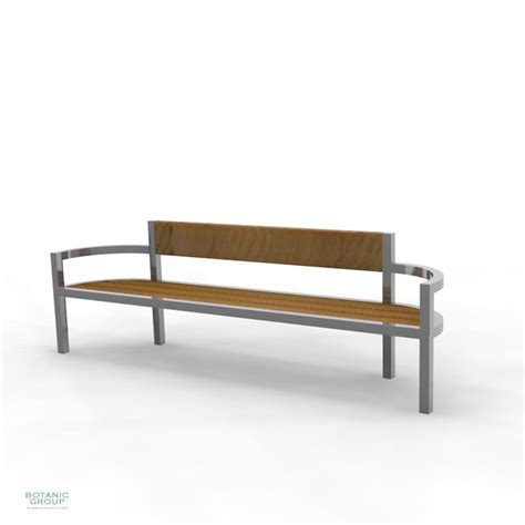 ss bench park bench bench slc19 stainless steel with wood