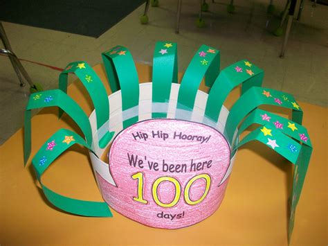100th day hat template grade school box 100th day of school hat