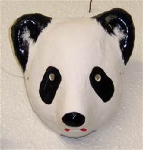 How To Make A Paper Mache Panda - children s panda mask goods from japan