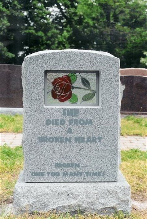 epitaph of a small quot she died from a broken heart quot tombstones grave