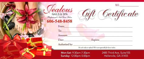 nail gift certificate template free free gift certificate template for nail salon gallery