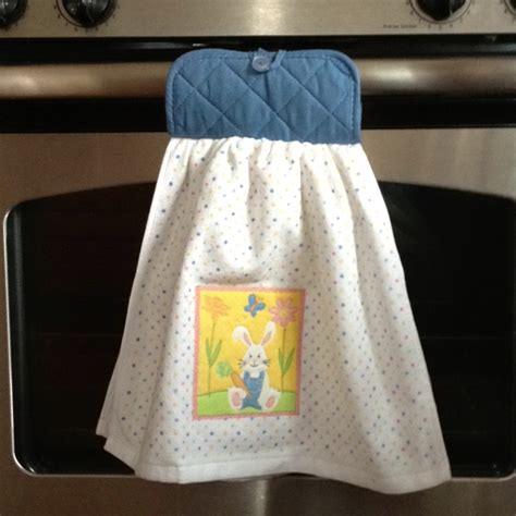 kitchen towel craft ideas dish towel and pot holder sewn together then just add a