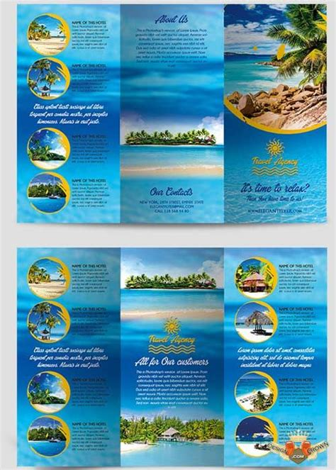 travel agency tri fold brochure psd template