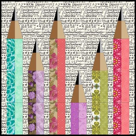 Patchwork Pencil Pattern - 7 name quilting pencil me in mini quilt a quilty