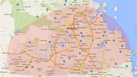 map of and surrounding areas service areas mobile scratch and dent professionals brisbane