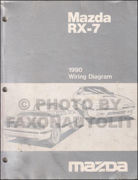 vehicle repair manual 1990 mazda rx 7 security system 1990 mazda rx 7 wiring diagram manual original rx7