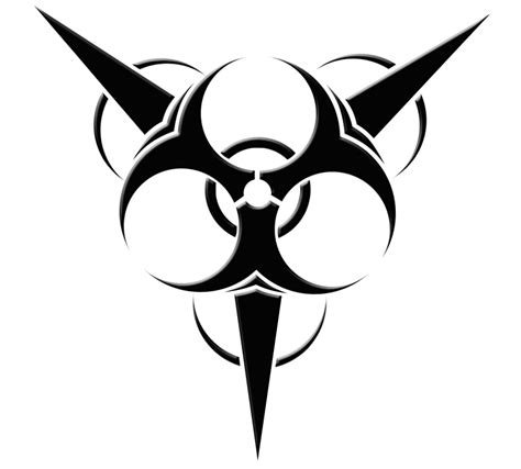 tribal biohazard tattoo designs cool biohazard symbols cliparts co