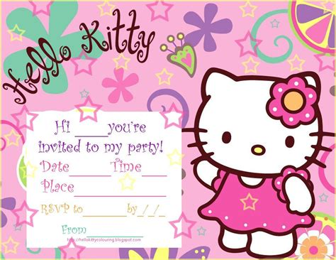 printable birthday invitation cards hello kitty hello kity party pics hello kitty printable birthday