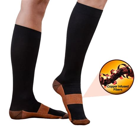 Miracle Copper Infused Compression Socks   Anti fatigue Socks $11.95