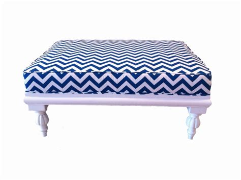 blue and white ottoman ottoman upholstery blue and white and blue and