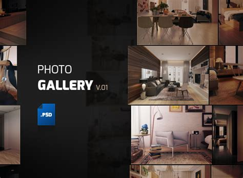 Photo Gallery Psd Template album gallery template psd