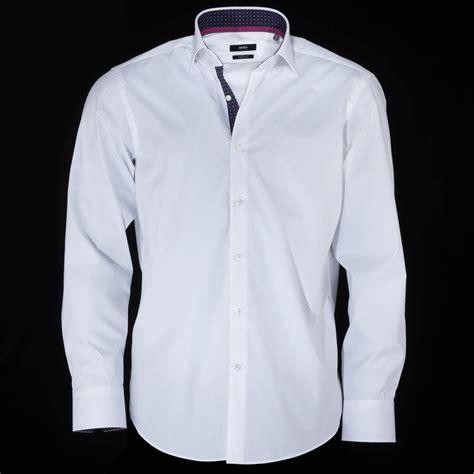 pink collar hugo eraldin white shirt with pink collar hugo from charles hobson uk