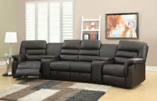 home theater reclining sofa leather theater seating