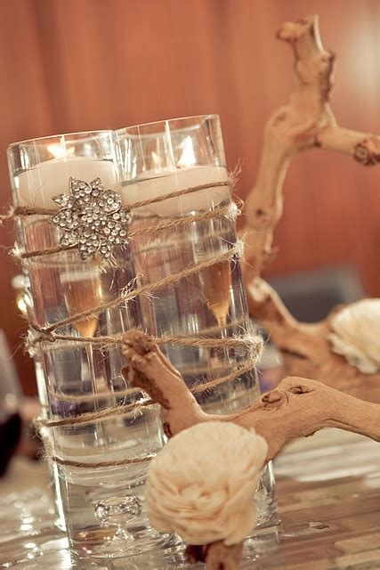 centerpiece elegant cost effective for a rustic