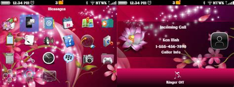 themes for blackberry 9360 os 7 flower sparkles for bb 9360 9350 9370 9620 themes free