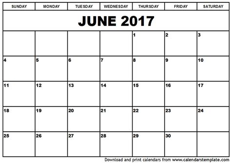june 2017 calendar printable templates printable