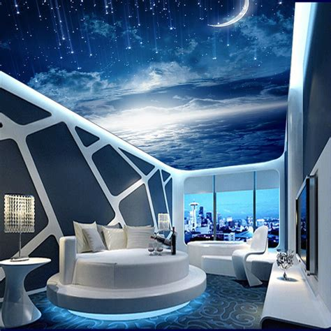 galaxy wallpaper 3d view photo wallpaper bedroom ceiling