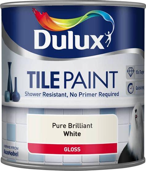Dulux Bathroom Paint Uk Dulux Tile Paint Gloss Brilliant White Shower
