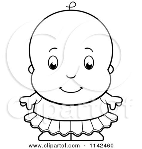 baby ballerina coloring page cartoon clipart of a black and white cute ballerina baby