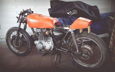 Motorrad Sitzbank Grundplatte by Honda Cj 250 T Projekt 550moto Cafe Racer