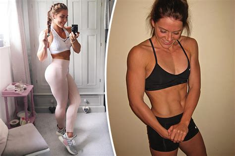 lucy davis gym woman puts on 2 st of muscle and gets ripped six pack by