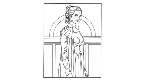Leia Printable Coloring Page Partay Pinterest Princess Leia Drawings Free Coloring Sheets