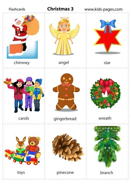 printable christmas flashcards christmas 3 flashcard
