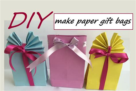 Make Paper Gift Bags - diy how to make paper gift bags easy craft idea