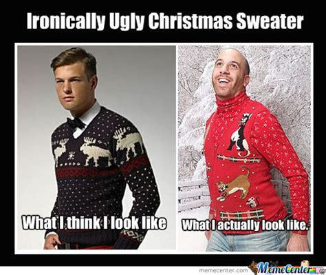 Meme Ugly Christmas Sweater - ironically ugly chirstmas sweater by lennyn meme center