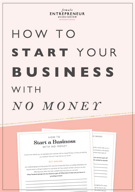 no money to start a business no problem try these 5 how to build a business with no money free workbook
